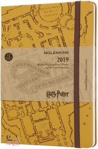 , 12m lim ed harry potter weekly notebook large beig